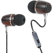 Kinden Heavy Bass Auricolari In-Ear Con Microfono, isolamento acustico auricolari con microfono per PC, Apple iPhone, iPad, iPod, Samsung Galaxy, HTC, Sony, lettori MP3