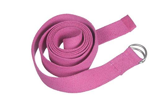Preisvergleich Produktbild Kanyoga Rosa Meditationskissen Baumwolle Yoga Belt(250cm x 4cm), 1 Stück