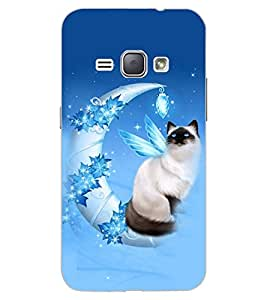 ColourCraft Lovely Cat Design Back Case Cover for SAMSUNG GALAXY J1 DUOS (2016)