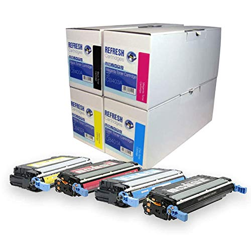 Refresh Cartridges Toner Kopie PATRONE Ersatz für HP CB400A/CB401A/CB402A/CB403A einzeln Patronen und Multipacks - BK/C/M/Y 4 Patrone Basispaket - Cb400a-ersatz