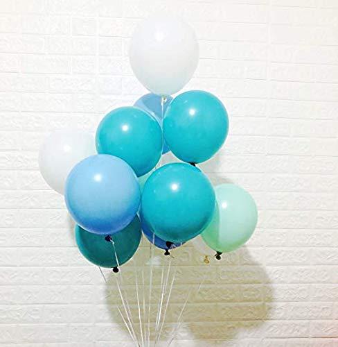Erosion Weißer See-Blau-Türkis-tadellose grüne Latex-Ballone, 100 GRAF, 10 Zoll für Gefrorene Party-Baby-Dusche-Dekoration