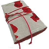 Protège livre fait main, couverture livre format poche, couvre livre en tissus coton, cadeaux, voyage, noël, anniversaire