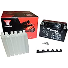 YUASA BATERIA YTX7A-BS AGM abierto - con paquete de ácido