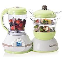 Babymoov A001100 Nutribaby Zen - Batidora y vaporera para preparar alimentos infantiles, color verde