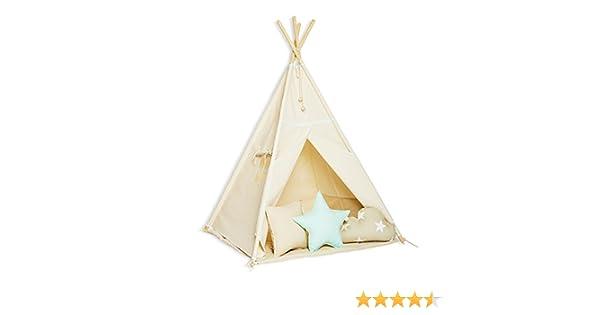 FUNwithMUM Tipi Zelt Spielzelt Teepee Fur Kinder Indianer