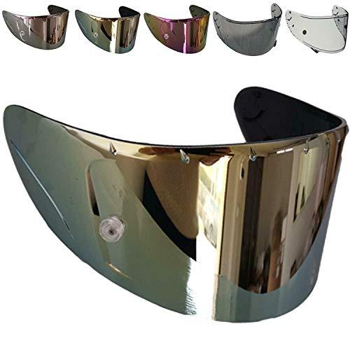 CASCO ACCESSORI Visier Shoei CWR-1 Nxr Ryd X-Spirit III 3 Transparent Feuerhelm Spiegel Verchromt Pinlock Ready nicht original, Aftermarket (Gold Spiegel)