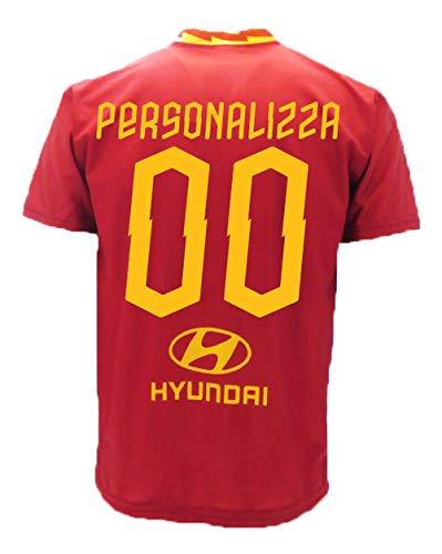 Roma maglia home replica ufficiale autorizzata 2019 2020 personalizzata con nome e numero personalizzabile (l)
