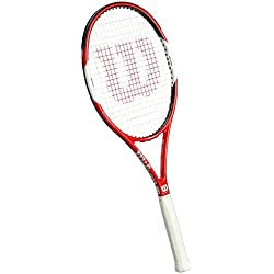 Wilson Six.One Team 95 TNS RKT W/O Raqueta de Tenis, Unisex Adulto, Rojo/Blanco / Negro (Red/White / Black), 2