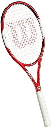 Wilson Six.One Team 95 TNS RKT W/O Raqueta de Tenis, Unisex Adulto, Rojo/Blanco / Negro (Red/White / Black), 2