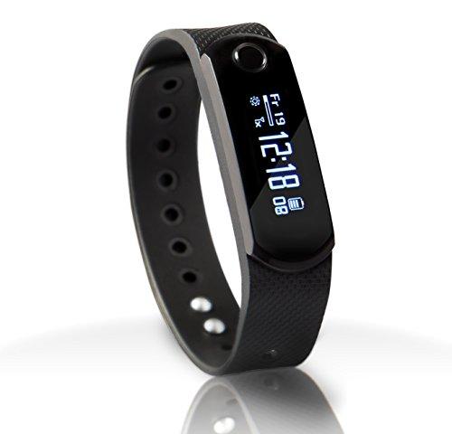 SportPlus Q-Band X, Smartwatch, Aktivitäts-/Schlaftracker, OLED Display, 3 austauschbare Bänder, für iOS und Android, SP-AT-BLE-20 -