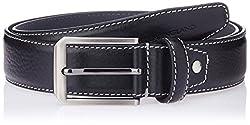 Peter England Mens leather Belt (8907411581291_XX-Large_Black)