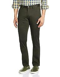 IZOD Mens Casual Trousers (8907259736013_ZMTR0021_30W x 33L_Olive)