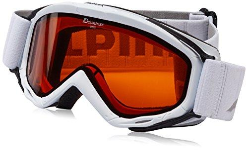 Alpina Kinder Skibrille Spice DH, Rahmenfarbe: White, Linsenfarbe: DH S2, One Size, 7058113