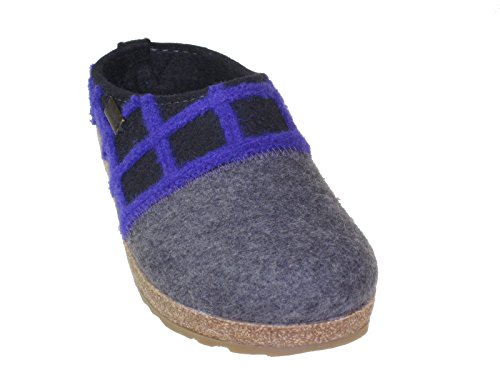 Haflinger Schuhe Damen Hausschuhe Pantoffeln Wolle Grizzly Web 731047 03 schwarz