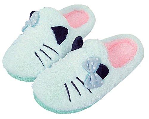 Plüsch Hausschuhe Winter Indoor Pantoffeln Wärme Weiche Leicht Cartoon Katze Plüsch Slippers für Herren und Damen