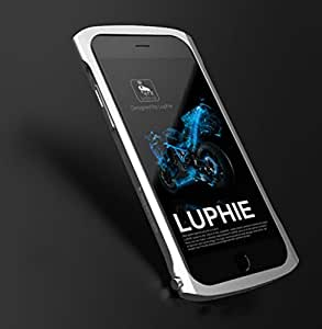 SUPERARMOR for iPhone 6 6S 4.7 Luphie X1 Aluminum Bumper Case Frame Made by Aircraft Aluminum Stealth Metal Alloy Ultra light weight curved design