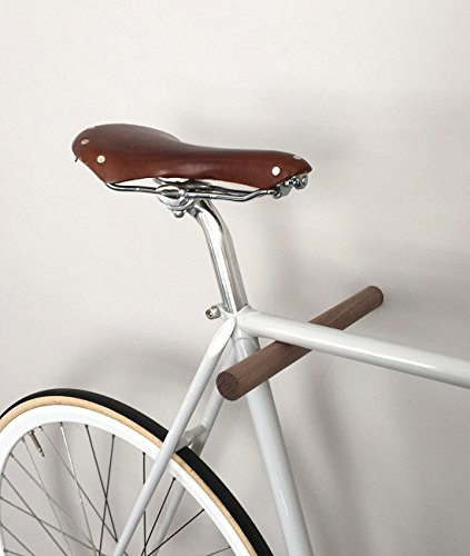 Halter Designer-ausführungen (Designer Fahrrad Wandhalterung - BIKE HOOKS - versch. Sticks zu Auswahl, mit Metall- oder Farbfronten, aus Eiche oder Nussbaum, hochwertige Verarbeitung - Möbelstück zur Wandmontage des Fahrrads (Walnuss))