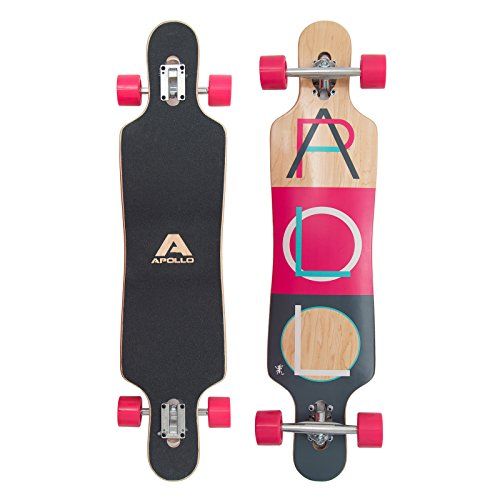Apollo Longboard Fidji Flex III Special Edition Komplettboard mit High Speed ABEC Kugellagern, Drop Through Freeride Skaten Cruiser Boards