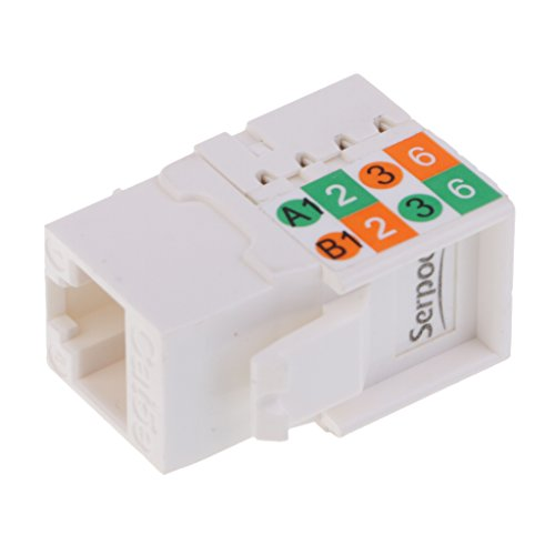 Homyl Ethernet Kabel Verbinder RJ45 Patchkabel Kupplung LAN Kabel Verbinder Netzwerk Adapter geschirmte Modular Kupplung Netzwerkkoppler (Blöcke Idc 110)
