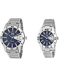 Watch Me Gift Combo Set Of Day And Date Couple Pair Gift Watch Set For 2 DDWM-008-BU-009-BU
