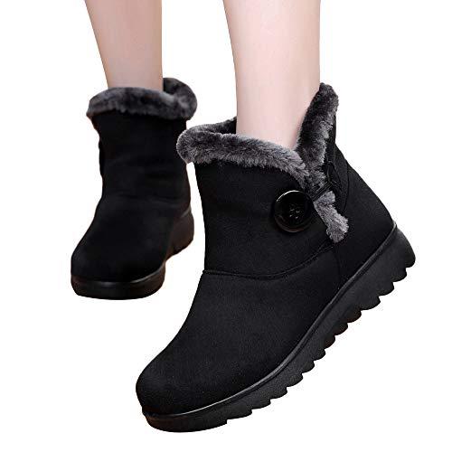 Preisvergleich Produktbild TianWlio Stiefel Frauen Winter Warm Schuhe Stiefeletten Boots Halten Schlüpfen Schneestiefel Weihnachten Winter Knöchel Martin Kurz Schnee Stiefel Pelzschuhe Warme Schuhe