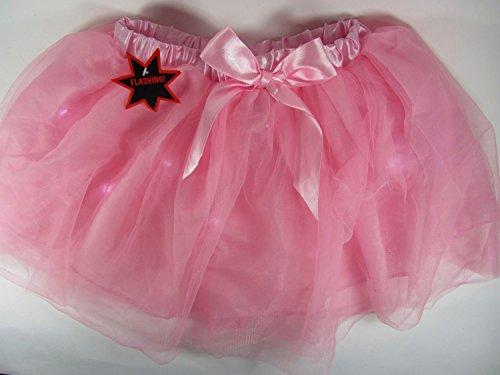 Dress Lumiere Kostüm Fancy - Jupe Tutu Rose avec détails Lumière Flash pour Femme Déguisement pour adulte 68,6 cm-Taille 76,2 cm-Disco habiller fête Danse
