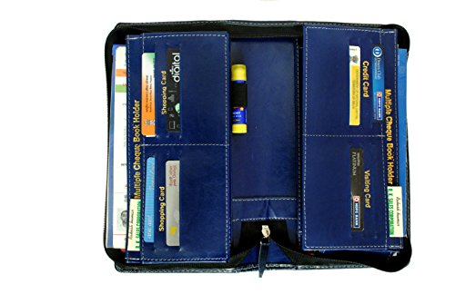 Pareek-All-New-Expanding-and-Multiple-Cheque-book-holder-Blue-for-cardschequebookpassport-and-Traveling-wallets-set-of-1
