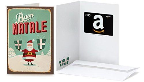 Buono Regalo Amazon.it - €30 (Biglietto d'auguri Babbo Natale Retrò)