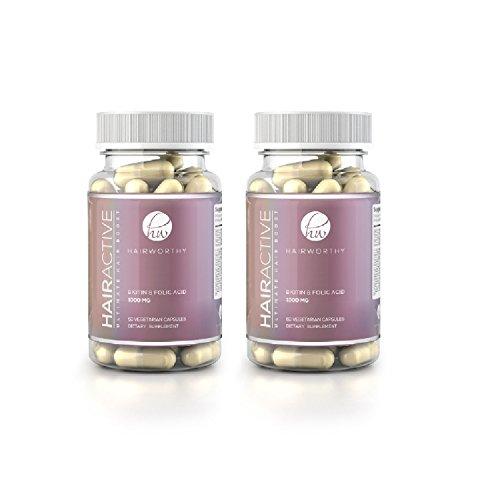 Hairworthy - Les vitamines de croissance capillaires LES PLUS RAPIDES. 4x PLUS FORT que les comprimés de cheveux réguliers.