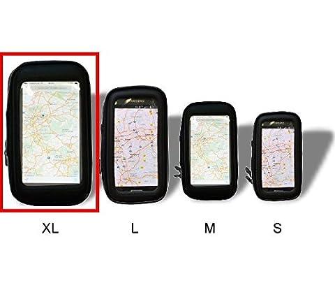 Fahrrad Rad Tasche ideal für Komoot Fahrrad GPS und andere Apps - Schutzhülle Handy Smartphone Navigation Bike Tour Fahrrad Motorrad Wasserfest geeignet für Apple iPhone, Samsung Galaxy uvm. (XL)