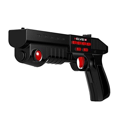 Helvei Set per Realtà Virtuale con Visore 3D Heaven con Pistola Hell GUN e Controller VR - Nero