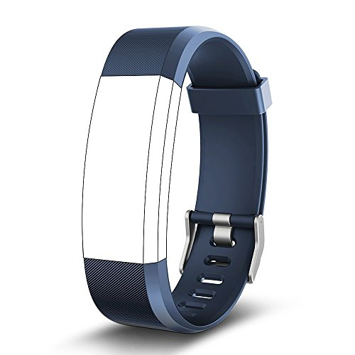 endubro Ersatzarmband für Fitness Tracker ID115 HR Plus & viele weitere Modelle aus hautfreundlichem TPU & nickelfreiem Verschluss (Blau)