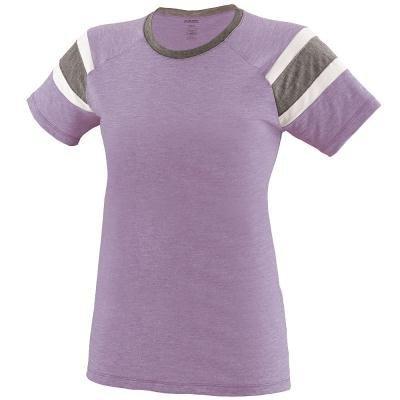 Augusta Sportswear Girls Fanatic Tee S Lavender/Slate/White -