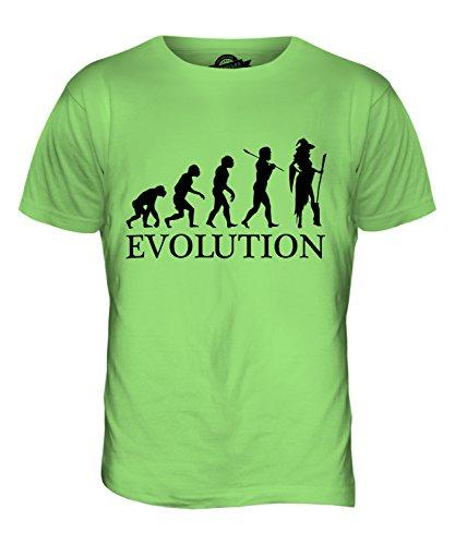 CandyMix Cosplay Evolution Des Menschen Herren T Shirt, Größe 2X-Large, Farbe (Perücke Grün Lime)