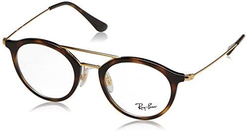 Ray-Ban Unisex-Erwachsene Brillengestell RX7097, Schwarz (Shiny Black), 49