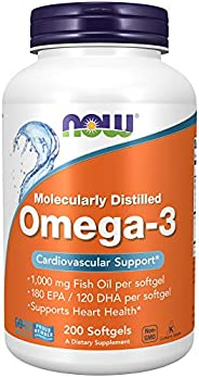 Now Foods Omega-3 Cardiovascular Support - 200 Softgels