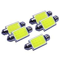 36MM 3W Car LED Bulbs Interior Dome Festoon Lights White 12V 5 Pieces/lot