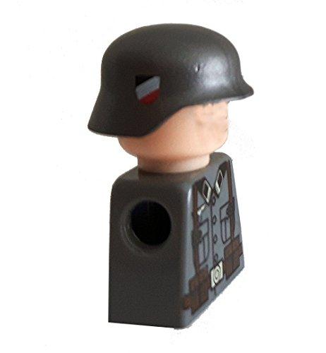 Modbrix 7649 – 10 x Custom Wehrmacht Helm für LEGO® Figuren, olivgrün mit Abzeichen auf beiden Seiten - 3