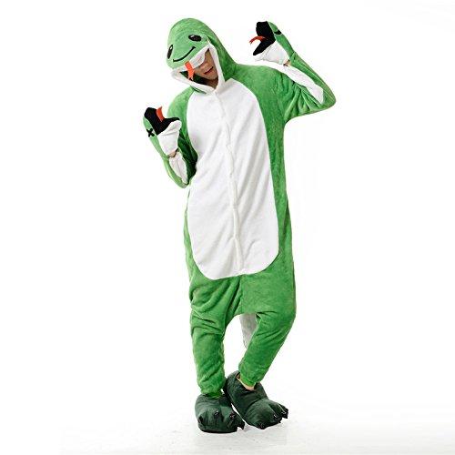 Imagen de adulto unisexo león serpiente coala rana hipopótamo pingüino búho lobo jirafa abeja onesie fiesta disfraz de kigurumi con capucha pijama sudadera ropa para dormir regalo de navidad serpiente, l height 170cm 180cm