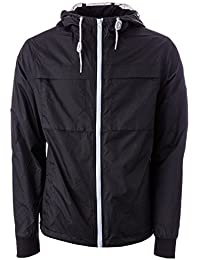 Weekend Offender Mens Kipsang Jacket in Black- Hooded- Netted Interior- Pockets