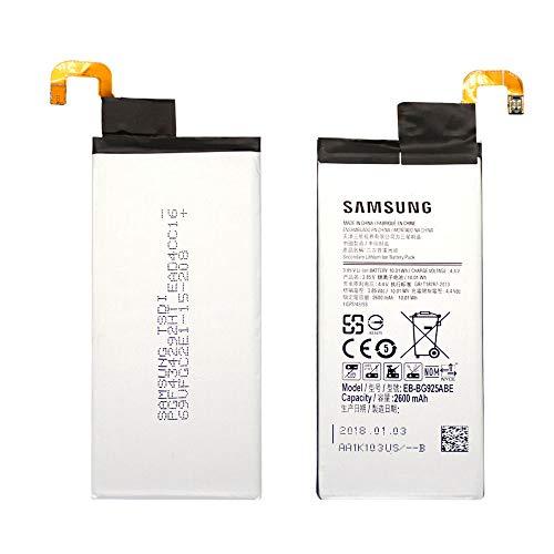 Batteria originale samsung eb-bg925abe con 2600 mah di capacità con ricarica rapida 2.0 per samsung galaxy s6 edge – senza scatola