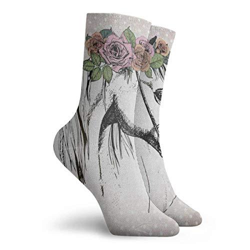 FunnyStar Socken Portrait of Horse Polka Dot Trendy Männer Frauen Stocking Gift Sock Clearance für Mädchen - Größe 39-45 - Size 6-11 - Polka Dot Kinder Socken
