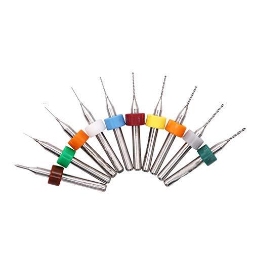 Hoen 0,1mm à 1,0mm carbure PCB Outil rotatif Bijoux CNC Gravure forets, 10pcs PCB Circuit imprimé en carbure Micro forets 1/20,3cm Tige