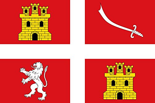 magFlags Bandera Large Municipio de Alcañices Castilla y León | Bandera Paisaje | 1.35m² | 90x150cm