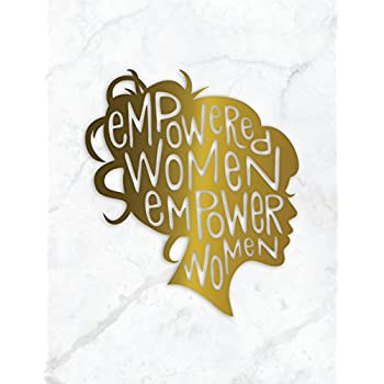 Empowered Women Empower Women: Marble + Gold Bullet Composition Book | 150-Page 1/4 Inch Dot Grid Female Empowerment Notebook | 8.5 X 11 Inch Perfect Bound Matte Softcover