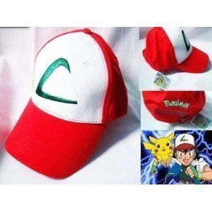 Pokemon Ash Ketchum Kappe ein Größe-Hohe (Pokemon Trainer Kostüm)