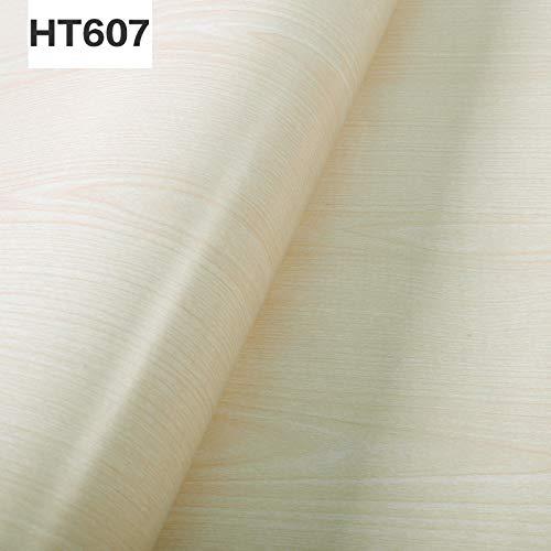 Selbstklebende Tapete, Vintage Holzimitat wasserdicht, Schranktüraufkleber HT607 60CM