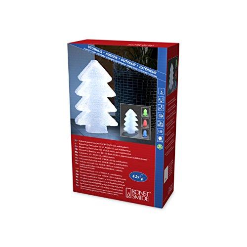 Konstsmide, Albero di Natale LED in acrilico con 6 cambi colore