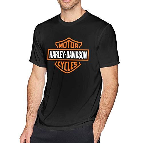 5fd00cc39 Mens Fashion Harley Davidson Logo T-Shirts Black