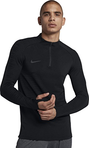 Nike Herren VaporKnit Strike Drill Langarmshirt, Black, L -